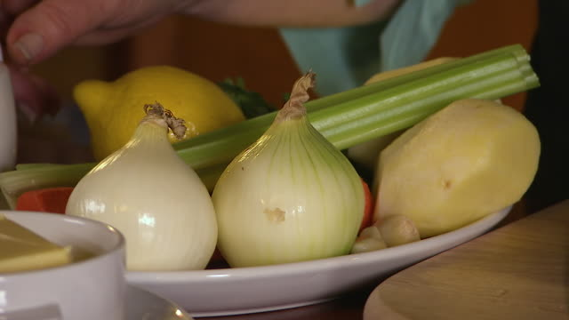 close up of a plate filled with vegetables - onion stock videos & royalty-free footage