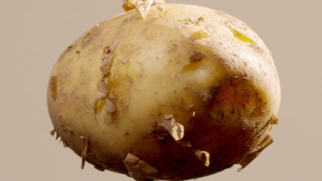 close up of a potato spinning - raw potato stock videos & royalty-free footage