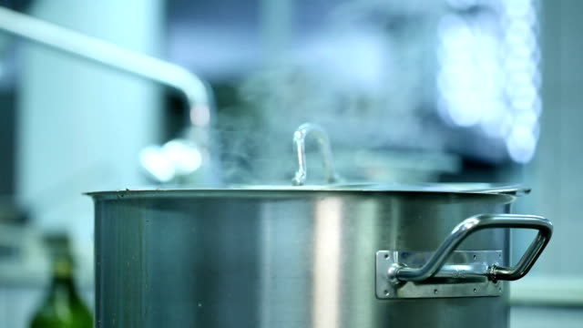 close up of a steel pot - boiling stock videos & royalty-free footage