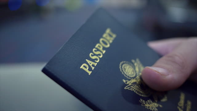 close up of a united states passport. - id card stock videos and b-roll footage