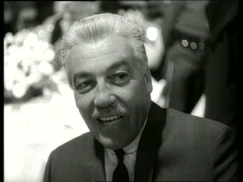 vídeos y material grabado en eventos de stock de close up of actor cesar romero / 1960's / sound - only mature men