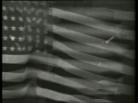 close up of american flag blowing in wind / no sound - 1910 stock videos & royalty-free footage