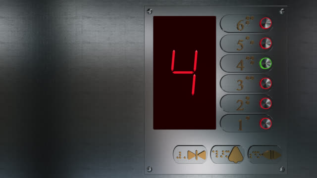 close up of an elevator control panel going down - braille stock videos & royalty-free footage