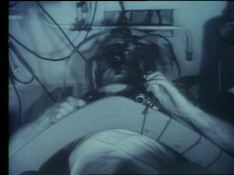 b/w close up of astronaut in g-force test - g force stock videos & royalty-free footage