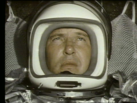 close up of astronaut's face in spacesuit sweating