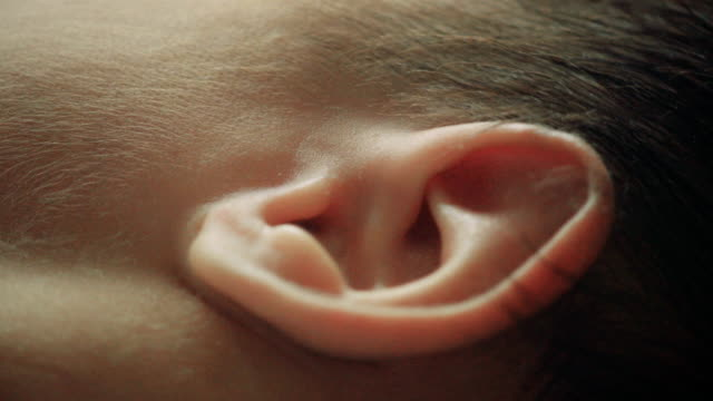 close up of baby ear - the human body stock videos & royalty-free footage