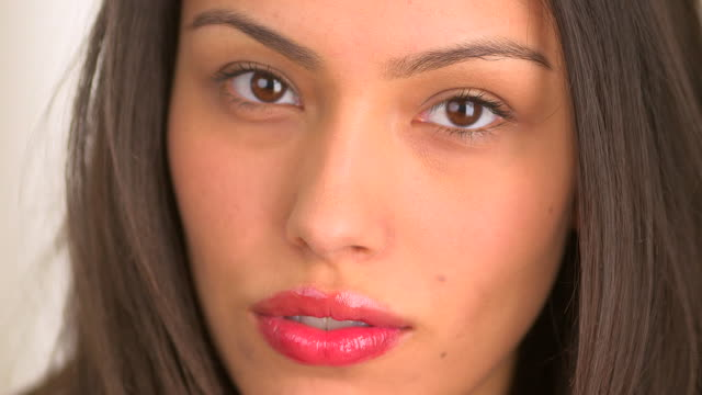 close up of beautiful mexican woman - mexican ethnicity stock videos & royalty-free footage