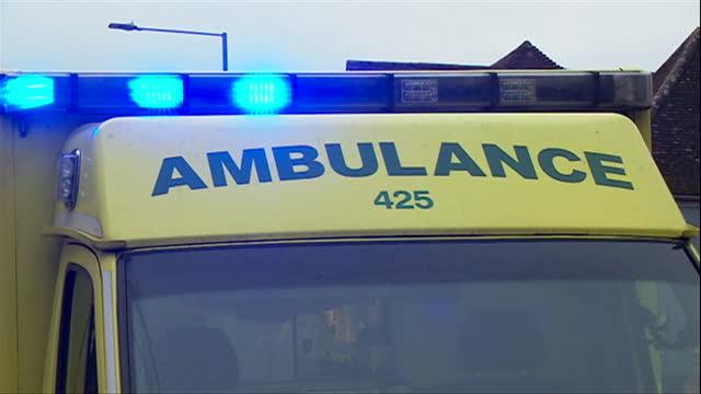 close up of blue flashing lights on ambulance - land vehicle stock videos & royalty-free footage