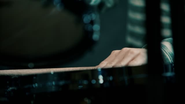 close up of boy's hand playing drums with  drumsticks - rhythm stock videos & royalty-free footage