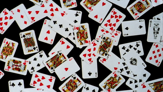 close up of cards piling up - playing card stock videos & royalty-free footage