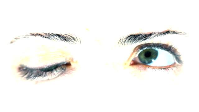 Nahaufnahme der Kreuzung Augen. HD