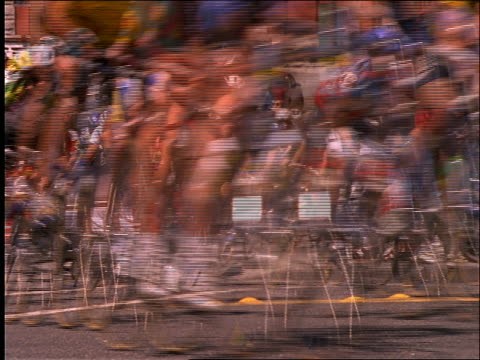 close up of crowd of bicycles in race - cinematography stock videos & royalty-free footage