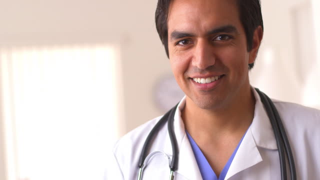 Close up of doctor smiling