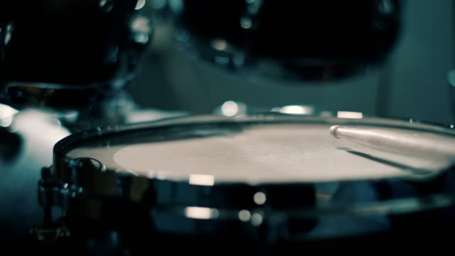 close up of drumsticks hitting drums - drum kit stock videos & royalty-free footage