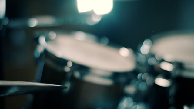 close up of drumsticks hitting drums - drum percussion instrument stock videos & royalty-free footage