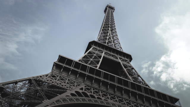 close up of eiffel tower - stock video - french culture stock videos & royalty-free footage