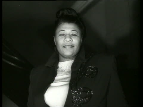 b/w close up of ella fitzgerald singing - ella fitzgerald stock videos & royalty-free footage