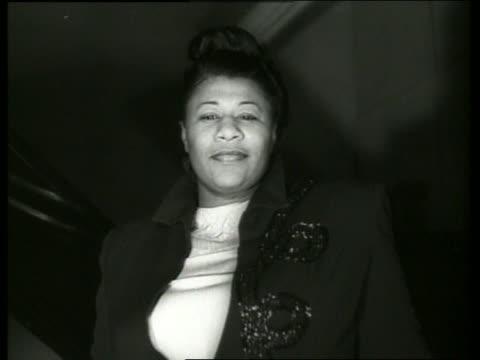 close up of ella fitzgerald singing - ella fitzgerald stock videos & royalty-free footage