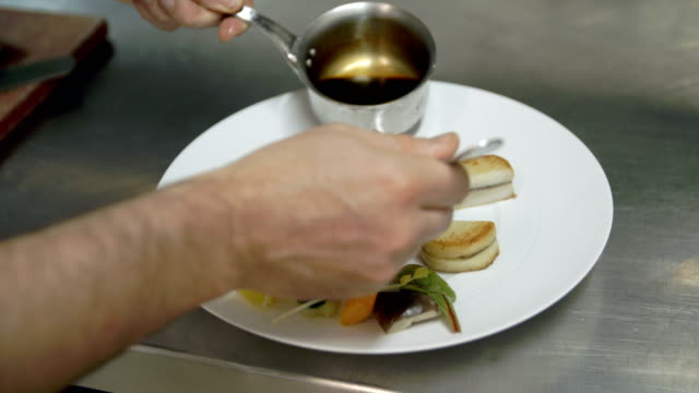 close up of fine dining food - dining stock videos & royalty-free footage
