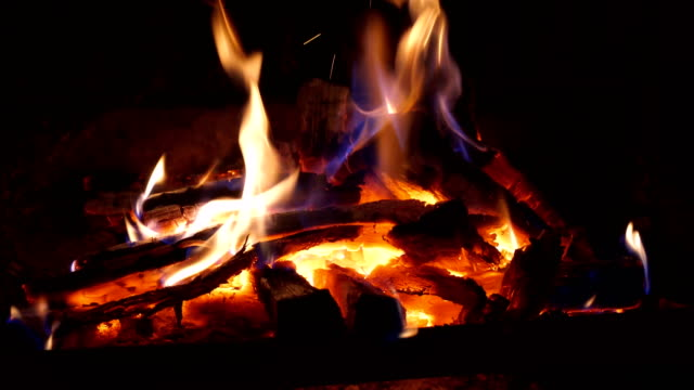 close up of fire burning in fireplace - open fire stock videos & royalty-free footage