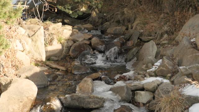 Nahaufnahme von gefrorenen Fluss.