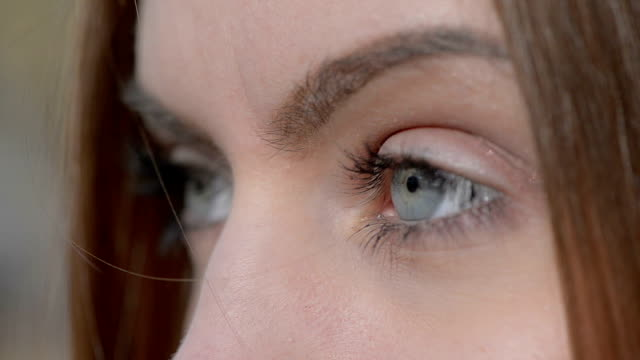 Close up of girl eyes