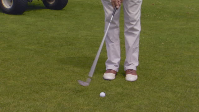 close up of golfing - golf shoe stock videos & royalty-free footage