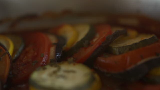 close up of grilled tomatoes, zucchini and eggplant - aubergine stock videos & royalty-free footage
