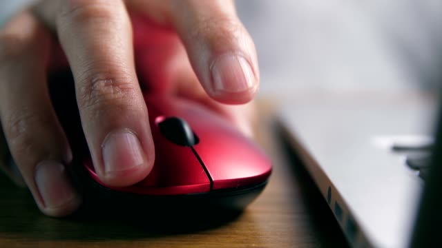 close up of hand using computer mouse - computer mouse stock videos & royalty-free footage