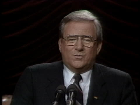 close up of jerry falwell, wearing glasses, a dark suit and dark tie, and standing in front of a black backdrop. he says the following into a... - preacher stock videos & royalty-free footage