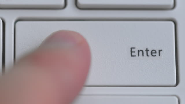 close up of keyboard, focus on enter button - search engine stock videos & royalty-free footage