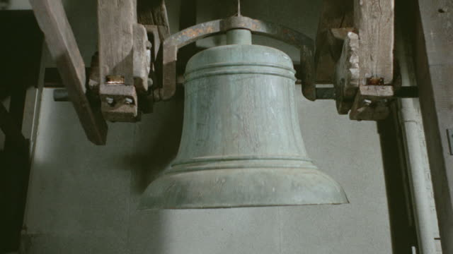 close up of large bell ringing - bell stock videos & royalty-free footage
