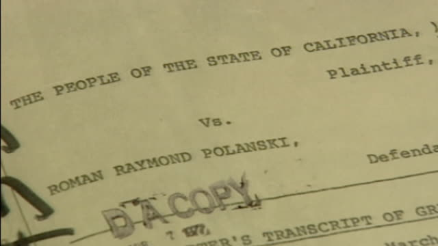 stockvideo's en b-roll-footage met close up of legal document relating to roman polanski trial - roman polanski