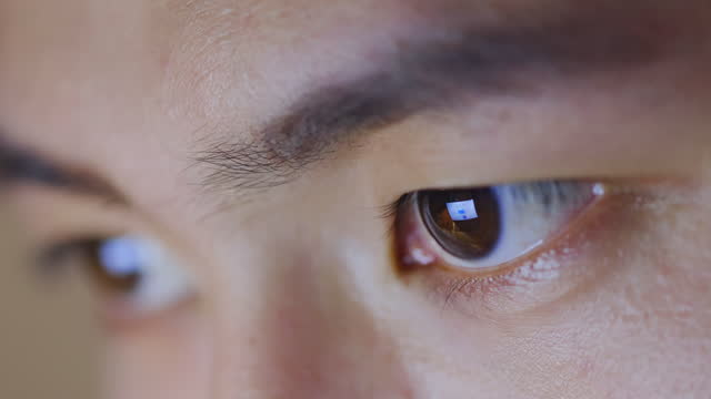 close up of male eye - lens optical instrument stock videos & royalty-free footage