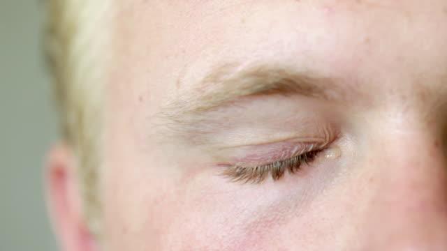 Close up of man crying