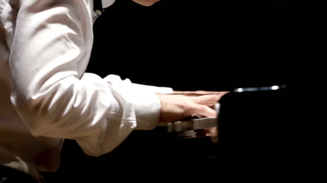 close up of man hands classic piano playing - classical style stock videos & royalty-free footage