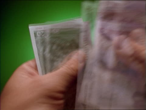 fast close up of man's hands counting deutschmarks - german currency stock videos and b-roll footage