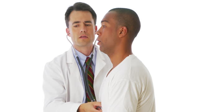 Close up of medical doctor consulting with patient