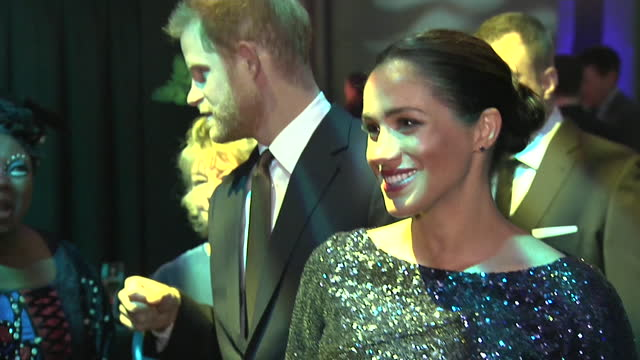 close up of meghan duchess of sussex, attending cirque du soleil performance at royal albert hall with prince harry - pregnant stock videos & royalty-free footage