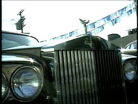 close up of mercedes benz and rolls royce grills - rolls royce stock videos & royalty-free footage
