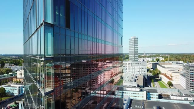 close up of modern glass and steel building - europe stock videos & royalty-free footage