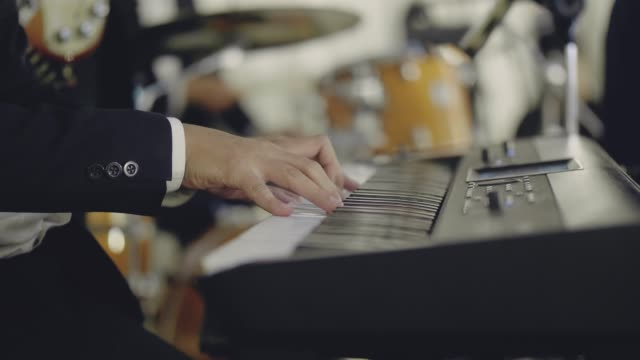 close up of musician hand playing paino - live event stock videos & royalty-free footage