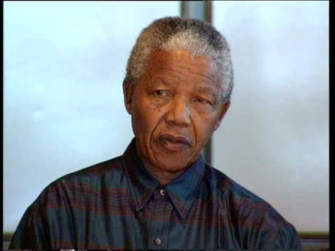 close up of nelson mandela talking - politics icon stock videos & royalty-free footage