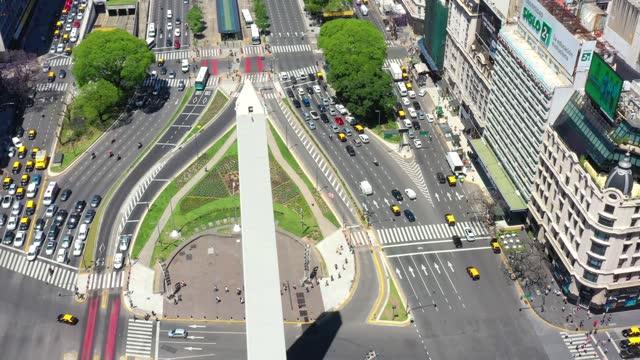 close up of obelisk landmark in buenos aires - avenida 9 de julio stock videos & royalty-free footage