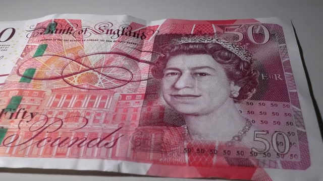 close up of old paper version of the fifity pound banknote - city of london stock videos & royalty-free footage