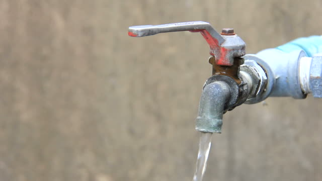 close up of outdoor tap on and off - water pipe stock videos & royalty-free footage
