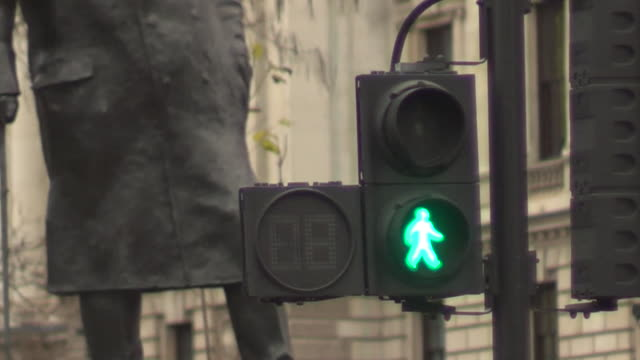 close up of pedestrian crossing lights with countdown numbers - crossing stock videos & royalty-free footage