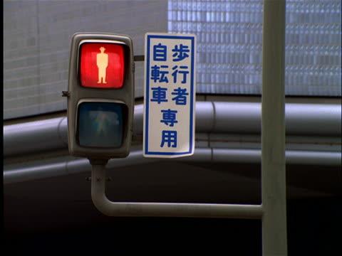 close up of pedestrian traffic light changing / osaka - vägsignal bildbanksvideor och videomaterial från bakom kulisserna
