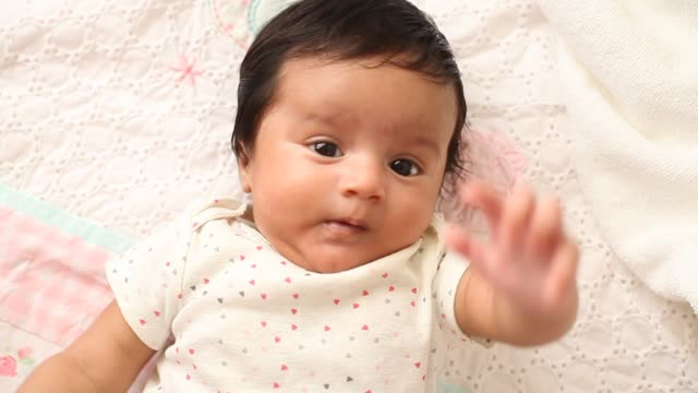 close up of playful adorable baby boy - indian ethnicity stock videos & royalty-free footage