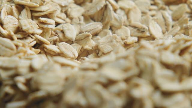 close up of porridge oats - oatmeal stock videos & royalty-free footage